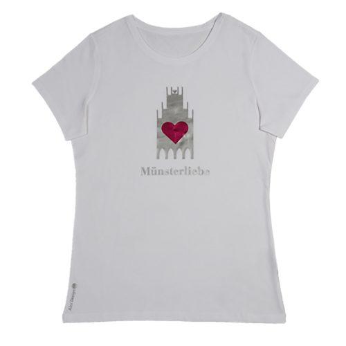 T-Shirt Damen Rundhals weiß