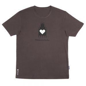 T-Shirt Münsterliebe Herren Rundhals dunkelgrau
